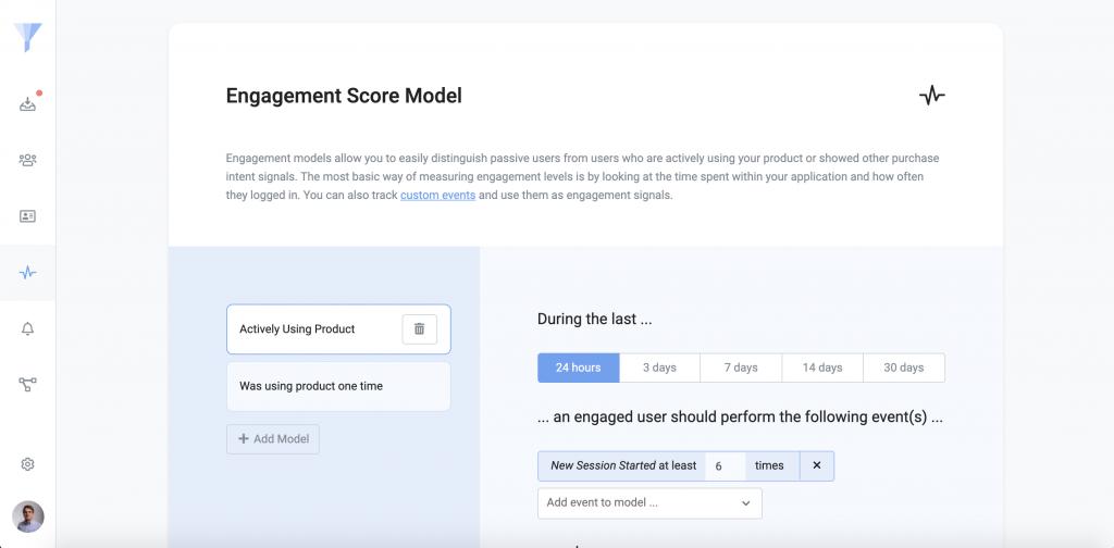 Image of the behavioral engagement setup in Refiner.