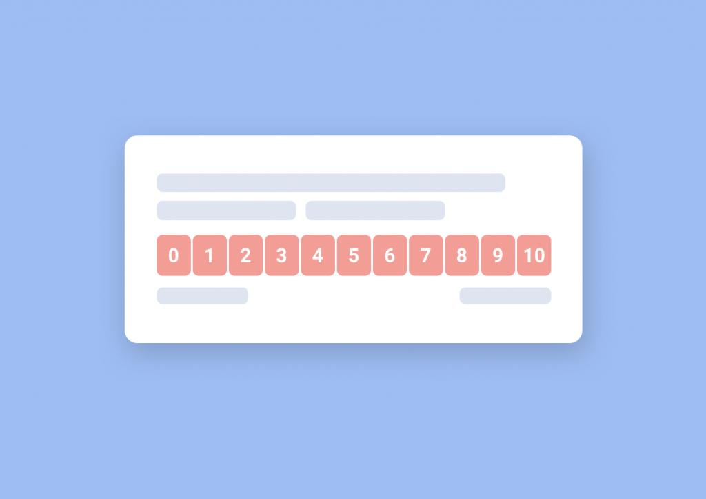 Illustration of NPS survey widget