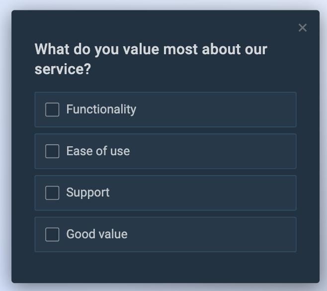 An example of a CSAT follow-up question.