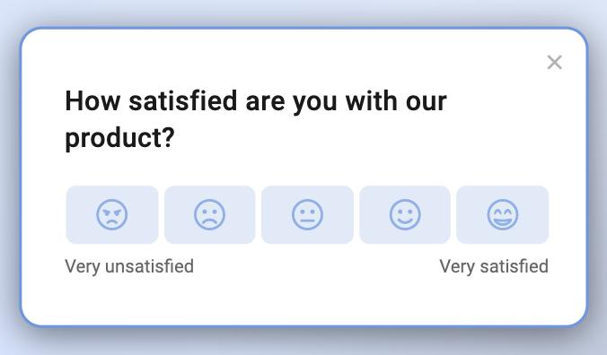 An example of a CSAT survey question.