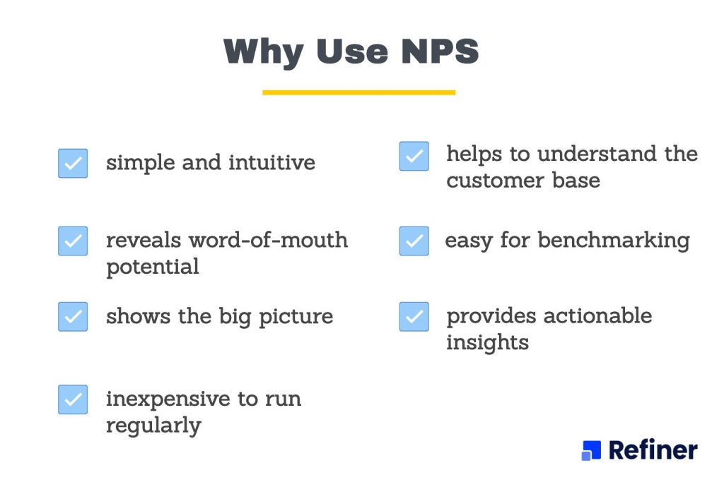 Arguments for why use NPS.